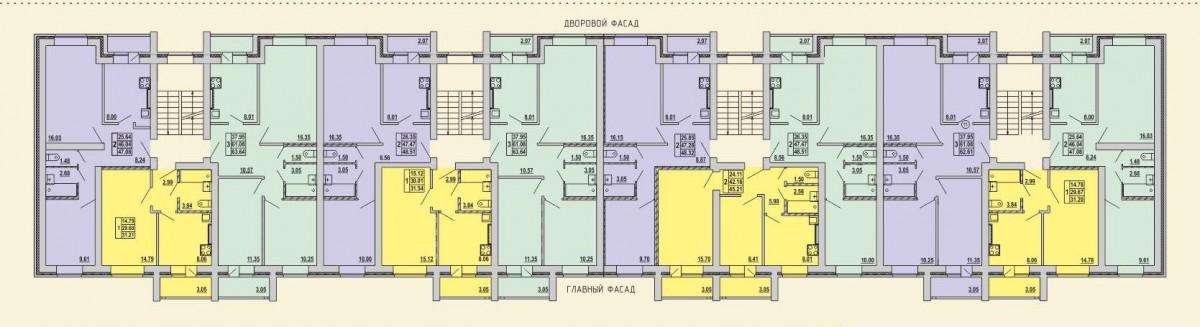 План этажа дома пос. Оршанка, ул. Первомайская, д. 2