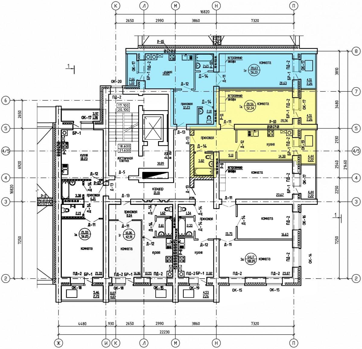 План этажа дома по адресу Йошкар Ола, ул.Вознесенская, д.30
